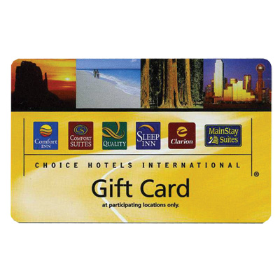 Choice Hotels Sup 100 Gift Card Business Trip